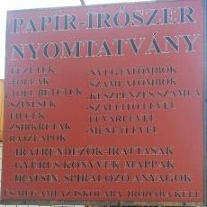 Papír-írószer 17. kerület