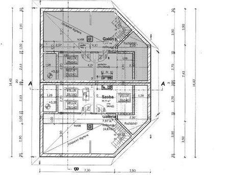 Eladó ikerház Pécelen tetőtér alaprajz