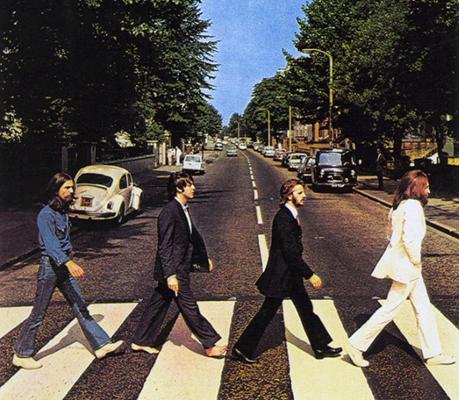 Ez itt a Beatles Abbey Road albumának borítófotója